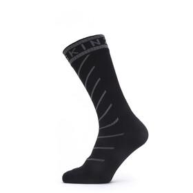 Sealskinz Waterproof Warm Weather Mid Socks with Hydrostop, negro/gris